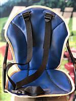 Велокресло детское, на прямую раму, металлическая основа Синий