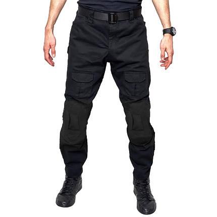 Тактические штаны Lesko B603 Black 40 размер мужские брюки военные для силовых структур с карманами милитари, фото 2