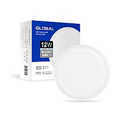 Светильник светодиодный GLOBAL 12W 5000K (IP65)