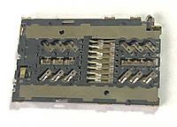 Сим коннектор для Lenovo / A520 / A580 / A690 / A780 / A800 / A890 / P90, фото 1