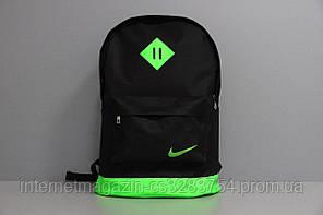 Рюкзак городской Nike Реплика Черно-зеленый (P(КД)-042)