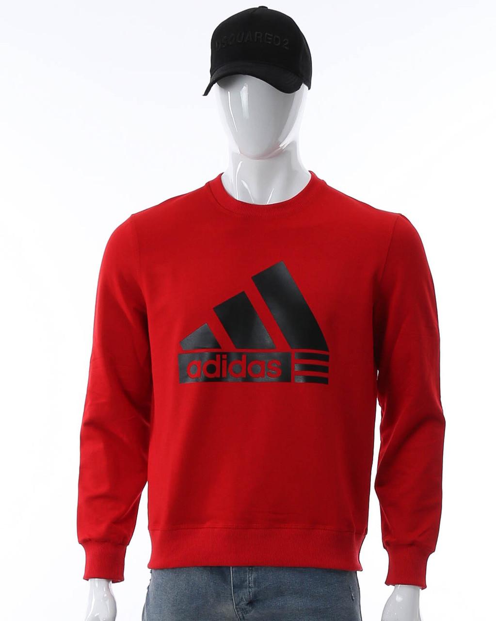 Свитшот красный ADIDAS с лого RED L(Р) 20-102-002