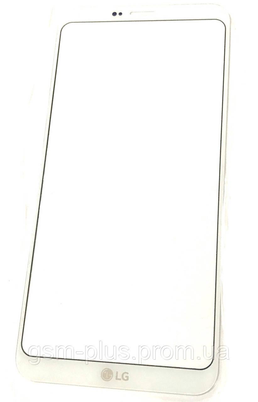 Стекло дисплея LG Q6 M700 White (для переклейки)