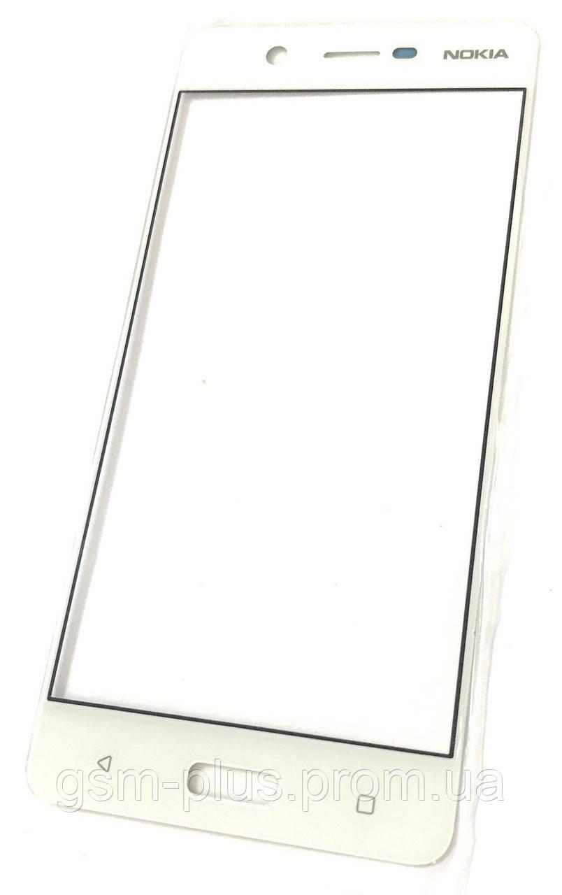 Стекло дисплея Nokia 5 White (для переклейки)