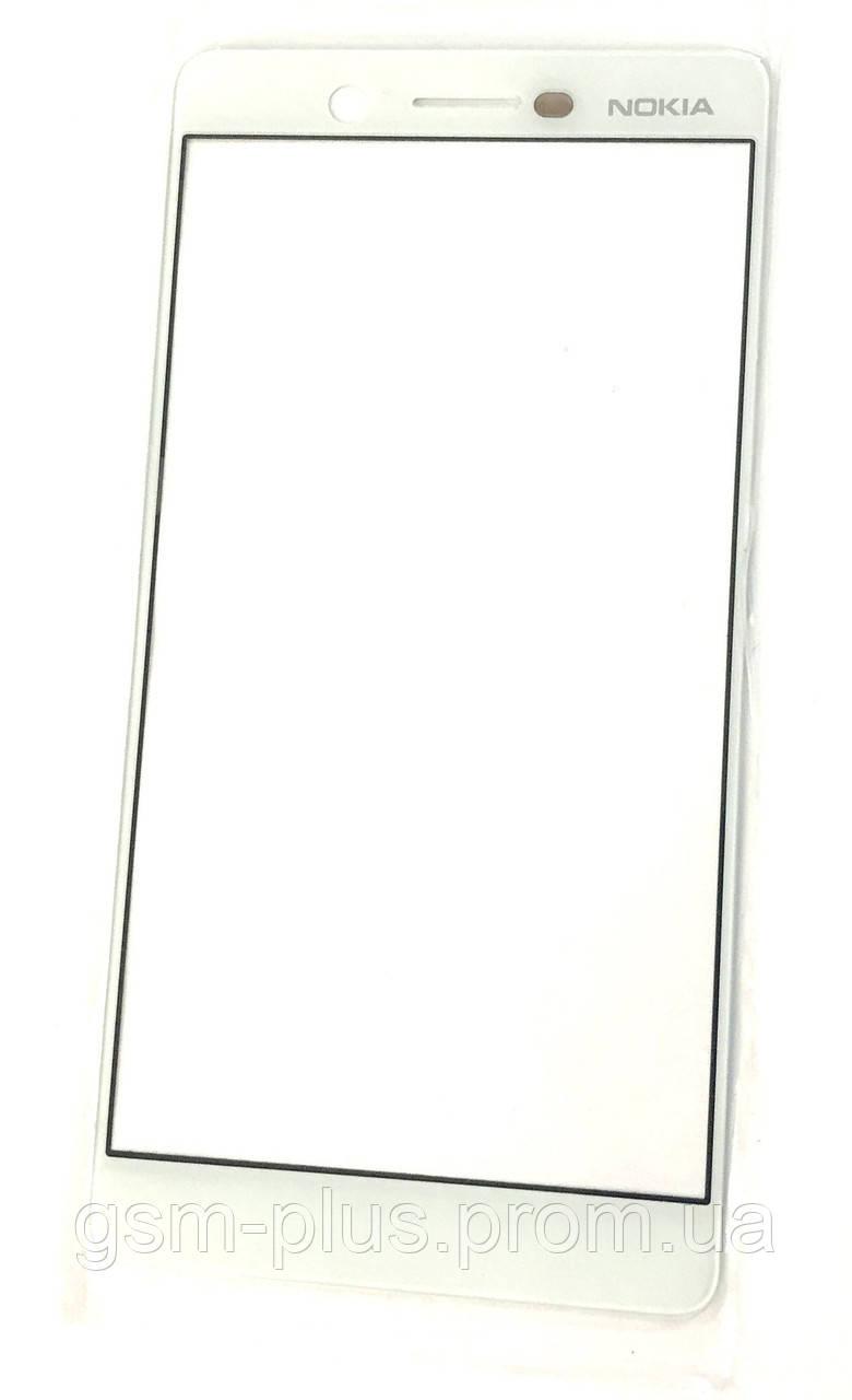 Стекло дисплея Nokia 7 White (для переклейки)