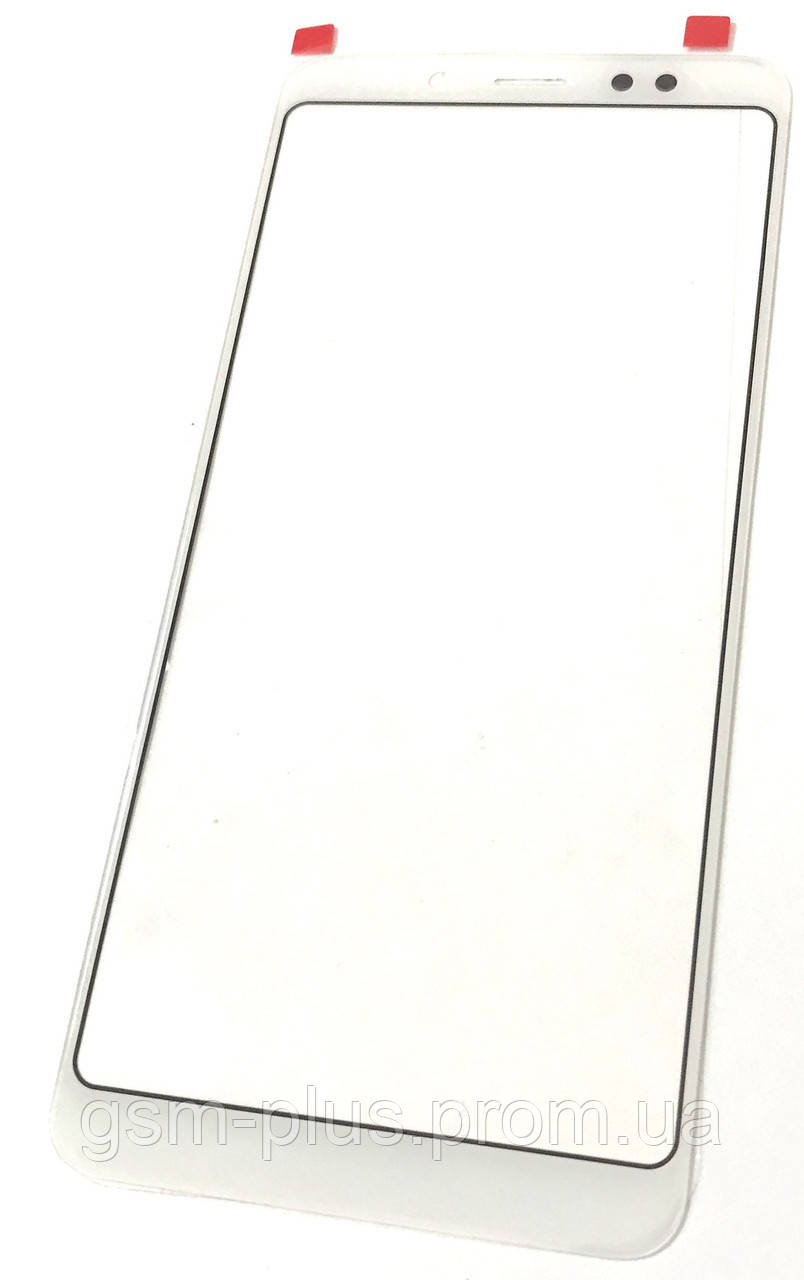 Стекло дисплея Xiaomi Redmi Note 5 / Redmi Note 5 Pro White (для переклейки)