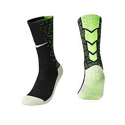Тренировочные носки Nike (черный+салатовый)