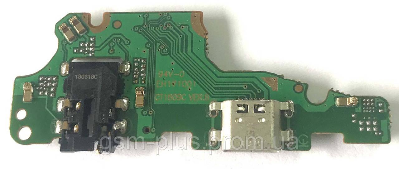 Разъем зарядки Huawei Mate 10 Lite / Nova 2i (RNE-L21 / с платкой)