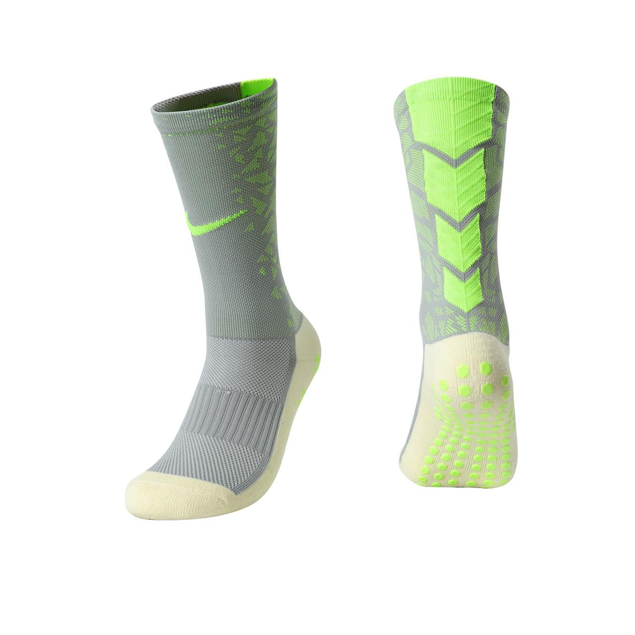 Тренувальні шкарпетки Nike (сірий+салатовий)