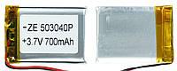 Аккумулятор универсальный 503040P 3 cm х 4 cm 3.7v 700 mAh