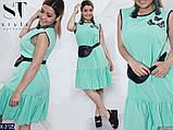 Стильное платье   (размеры 46-56) 0238-77, фото 2