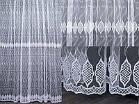 Тюль фатин с вышивкой, цвет белый . Код 288т