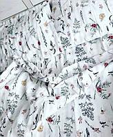 Постельное белье в полоску с цветами
