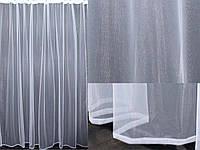 Тюль фатин, однотонный, цвет белый. Код 338т