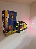 Лазерный уровень нивелир Fixit Laser Level Pro 3 +рулетка+уровень