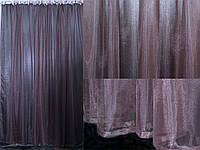 Тюль фатин, однотонный, цвет коричневый. Код 03тф