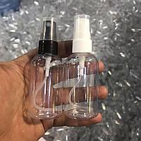 Флакон (емкость, бутылка, бутылочка) 50 мл, прозрачный, с распылителем - спрей для антисептика