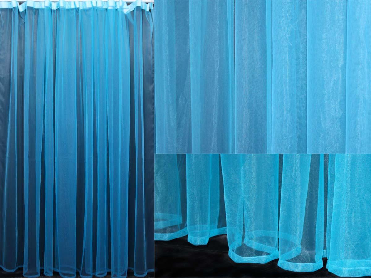 Тюль фатин, однотонный, цвет електрик. Код 059тф