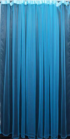 Тюль фатин, однотонный, цвет електрик. Код 059тф, фото 2