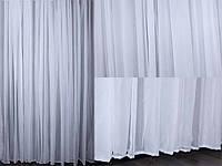 Тюль шифон белый однотонный
