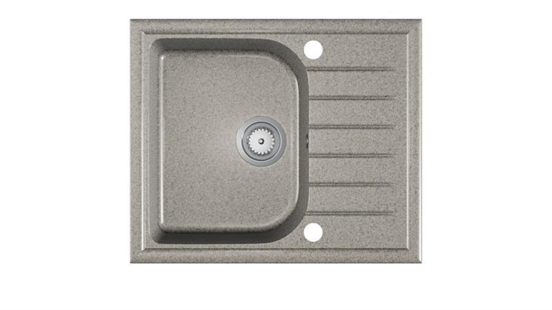 Мийка кухонна граніт ALAROS сірий крихта 58,5х49 (Halmar)