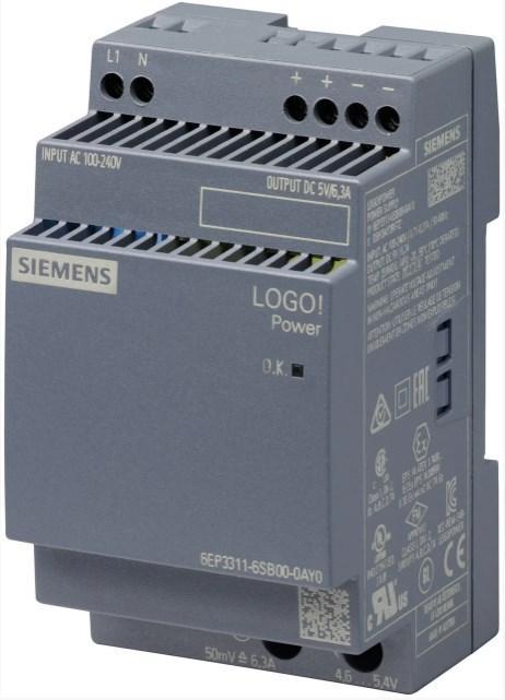 6EP3311-6SB00-0AY0 SIEMENS Стабилизированный блок питания LOGO!POWER 5В 6.3А