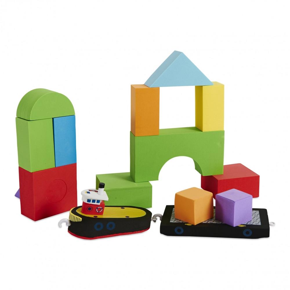 Плаваючі блоки для ванної Just Think Toys Буксир і баржа (22092)