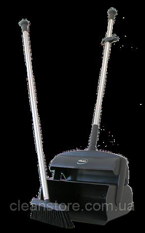 Совок-контейнер в комплекте с щеткой для пола и сгоном, 1050 мм, фото 2