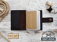 Визитница коричневая карт холдер кредитница из натуральной кожи, фото 1