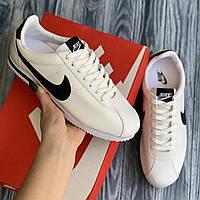 Nike Cortez  белые мужские кожаные кроссовки