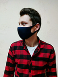 Маска защитная для органов дыхания многоразовая питта-маска (тёмно синий) антибактериальная, фото 5