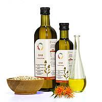 Сафлоровое масло 1 л сертифицированное без ГМО сыродавленное холодного отжима, фото 1