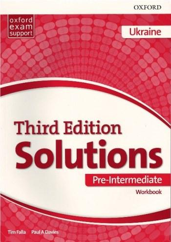 Solutions 3rd Edition Pre-Intermediate  Workbook Ukraine (Рабочая тетрадь)