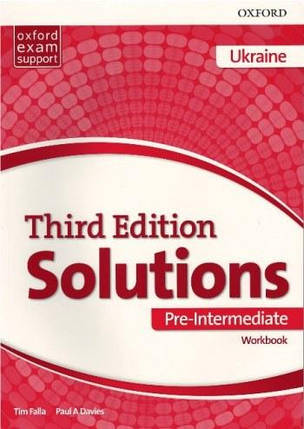 Solutions 3rd Edition Pre-Intermediate  Workbook Ukraine (Рабочая тетрадь), фото 2
