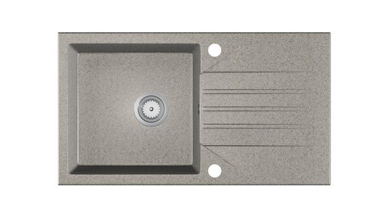 Мойка кухонная гранит EVINION серый крошка 77.5х43,5 (Halmar)