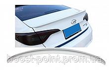 Lip Spoiler (лип спойлер багажника - сабля) Hyundai sonata lf (хюндай/ хендай/ хундай соната лф 2014, 2015+)