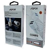 Зарядка для телефона автомобильная  Aspor A 905, фото 1
