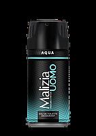 Дезодорант Malizia Uomo мужской парфюмированный Аква, 150мл