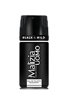 Дезодорант Malizia Uomo мужской парфюмированный Black&Wild, 150мл