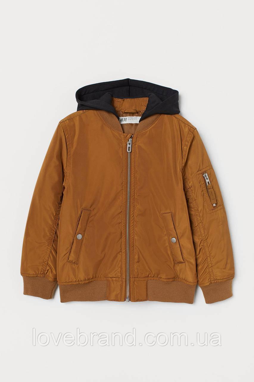 Фирменный бомбер для мальчика H&M  коричневый