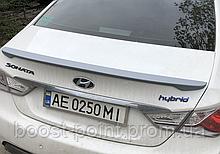 Lip Spoiler (лип спойлер багажника - сабля) Hyundai sonata YF i45 (хюндай/ хендай/ хундай сонатаюф 2009-2014)