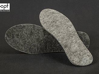 Стельки войлок серый искусственный р.36