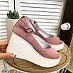 Стильные женские туфли на платформе, фото 4