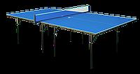 Тенісний стіл для приміщення GSI-Sport Hobby Premium (синій) Gk-1.18  + Набір для настільного тенісу (2р+3м)