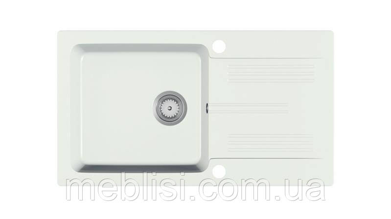 Мойка кухонная гранит LANEO белый крошка 78х44 (Halmar)