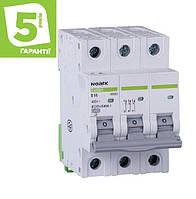 Автоматический выключатель 3P 6А C 4,5кА NOARK серия Ex9BS