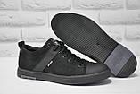 Мужские спортивные туфли натуральный замш черные Maxus большие размеры:46,47,48, фото 2