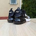 Жіночі кросівки Nike Air Max 270 Supreme (чорно-білі) 20041, фото 2