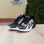 Жіночі кросівки Nike Air Max 270 Supreme (чорно-білі) 20041, фото 3