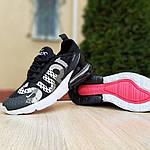 Жіночі кросівки Nike Air Max 270 Supreme (чорно-білі) 20041, фото 4